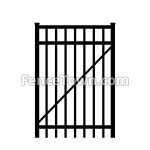 Flat Top Aluminum Gate 36 Inches Wide | FenceTown