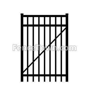 Flat Top Aluminum Gate 36 Inches Wide