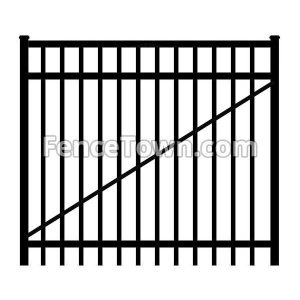 Flat Top Aluminum Gate 60 Inches Wide