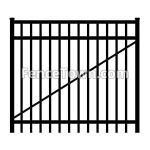 Flat Top Aluminum Gate 72 Inches Wide | FenceTown