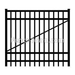 Flat Top Aluminum Gate | FenceTown