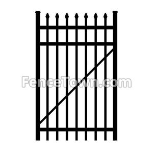 SpearTop Aluminum Gate 36 Inches Wide