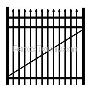 Spear Top Aluminum Gate 60 Inches Wide