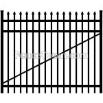 Spear Top Aluminum Gate 72 Inches Wide | FenceTown
