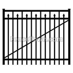 Flat Top Aluminum Gate with Spear Pickets 60W | FenceTown