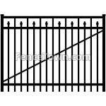 Flat Top Aluminum Gate with Spear Pickets 72W | FenceTown