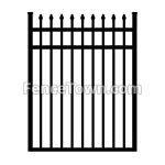 Spear Top Flush Bottom Aluminum Gate 48W | FenceTown