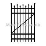 Alternating Picket Aluminum Gate 36W | FenceTown