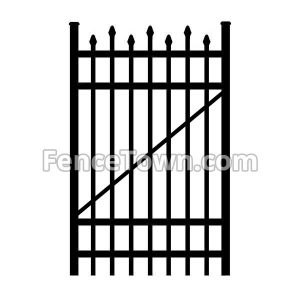 Alternating Picket Aluminum Gate 36W
