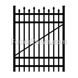 Alternating Picket Aluminum Gate 48W