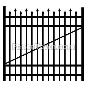 Alternating Picket Aluminum Gate 60W