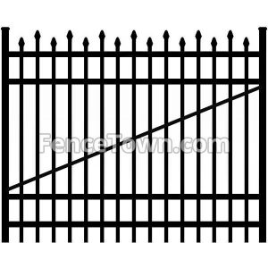 Alternating Picket Aluminum Gate 72W