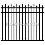 Alternating Spear Picket Aluminum Fence | FenceTown
