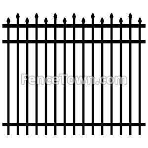 Alternating Spear Top Aluminum Fence Panel
