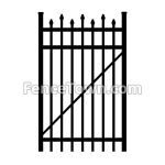 Alternating Pressed Spear Top Gate 36W | FenceTown