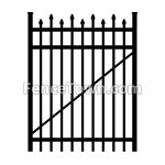 Alternating Pressed Spear Top Gate 48W | FenceTown