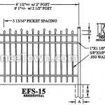Elite EFS-15 42H Spec Drawing | FenceTown