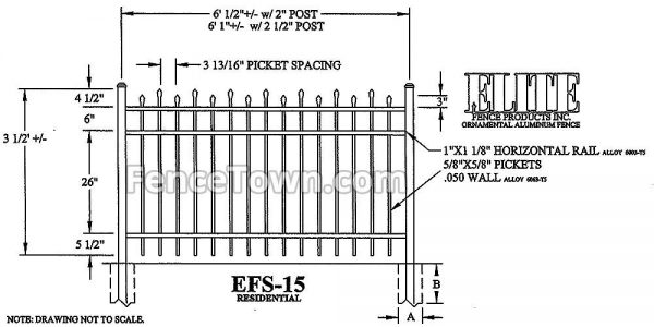 Elite EFS-15 42H Spec Drawing