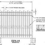 Elite EFS-15 60H Spec Drawing | FenceTown
