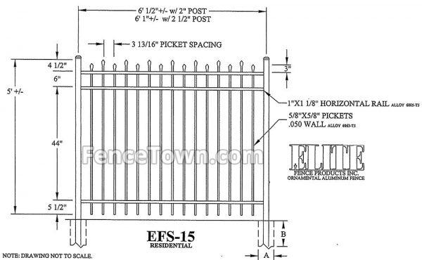 Elite EFS-15 60H Spec Drawing
