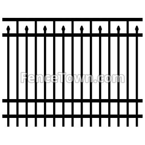 Flat Top Spear Pickets Aluminum Fence Panel