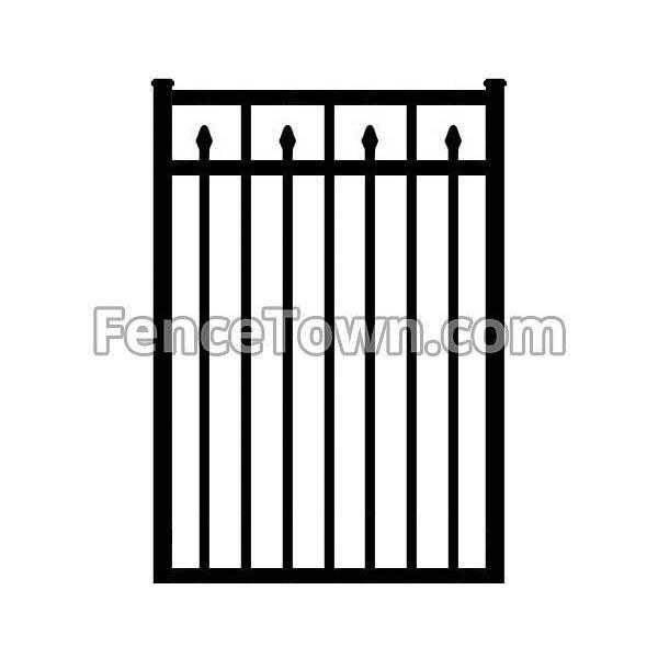 Flat Top Decorative Spear Picket Gate 36W