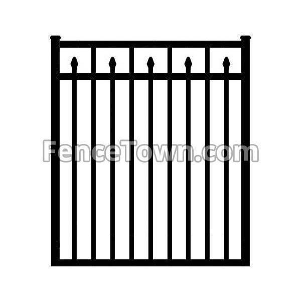 Flat Top Decorative Spear Picket Gate 48W