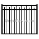 Flat Top Decorative Spear Picket Gate 60W | FenceTown