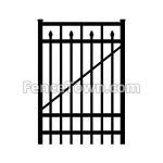 Flat Top Spear Picket Gate 72H by 36W | FenceTown