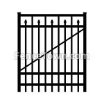 Flat Top Spear Picket Gate 72H by 48W | FenceTown