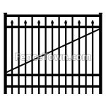Flat Top Spear Picket Gate 72H by 60W | FenceTown