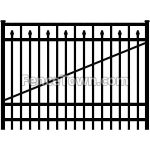 Flat Top Spear Picket Gate 72H by 72W | FenceTown