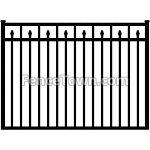 Flat Top Decorative Spear Picket Gate 72W   FenceTown