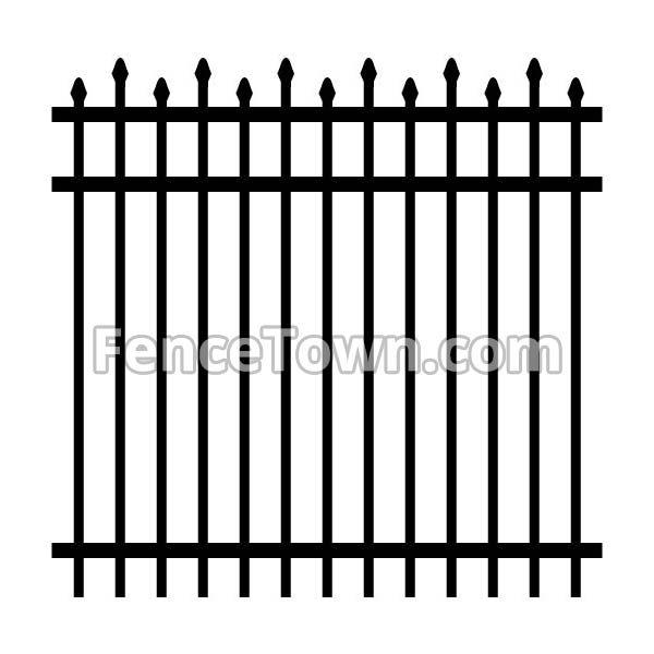 Alternating Spear Picket Industrial Aluminum Fence
