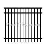 Flat Top Rail Industrial Aluminum Fence | FenceTown