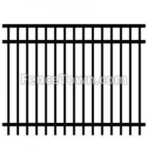 Flat Top Aluminum Fence