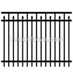 Flat Top Spear Picket Fence Panel | FenceTown