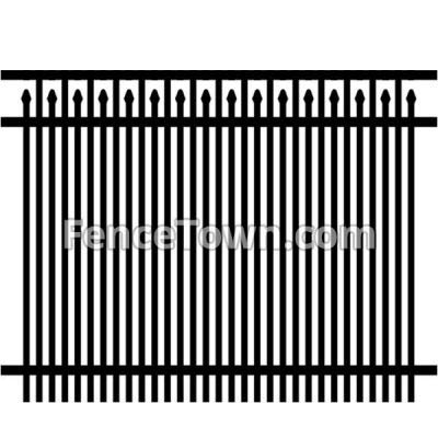 Flat Top Spear Picket Privacy Fence