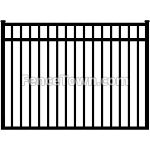 Flat Top Aluminum Gate 72W | FenceTown
