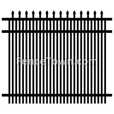 Double Picket Spear Top Security Fence