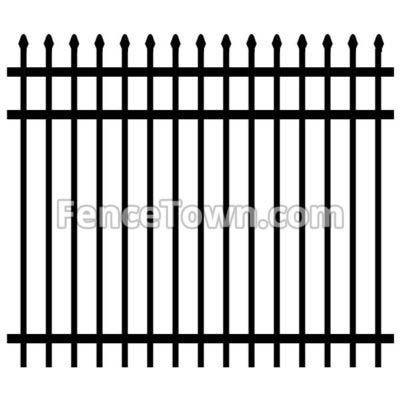 Spear Top Aluminum Fence
